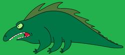 Alien green Lizard (Futurama)A.png