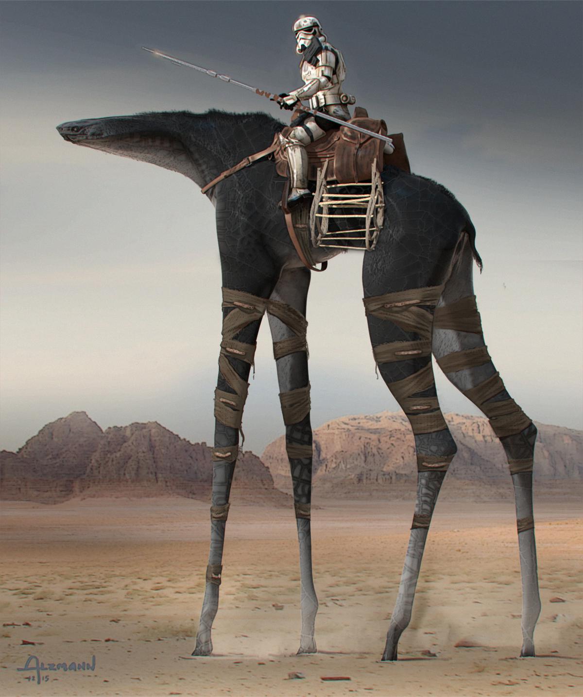 Long-legged mount