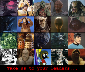 Take us to your leaders...