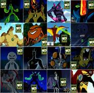 16 aliens de Ben 10 Fuerza Alienigena