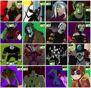 16 villanos de Ben 10