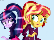 Sci Twi vs Sunset AU
