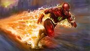 The-flash-running-artwork-5k-hd