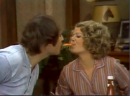 AITF 1x3 - Kiss at the dinner table