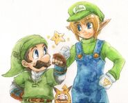 Link luigi mario pikachu and starman the legend of zelda and etc drawn by kobachi 041ade6b507d2690895a3c30d1ed72c9