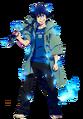 Rin okumura render by ironoakman-dag0d5p