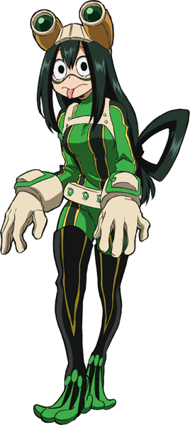 Tsuyu Asui Full Body Hero Costume Anime.png