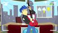 Flash Sentry playing his guitar EGDS12