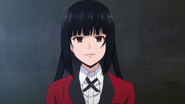 Kakegurui anime episode 1 Yumeko Jabami profile image
