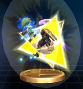 Triforce Slash (Toon Link) - Brawl Trophy