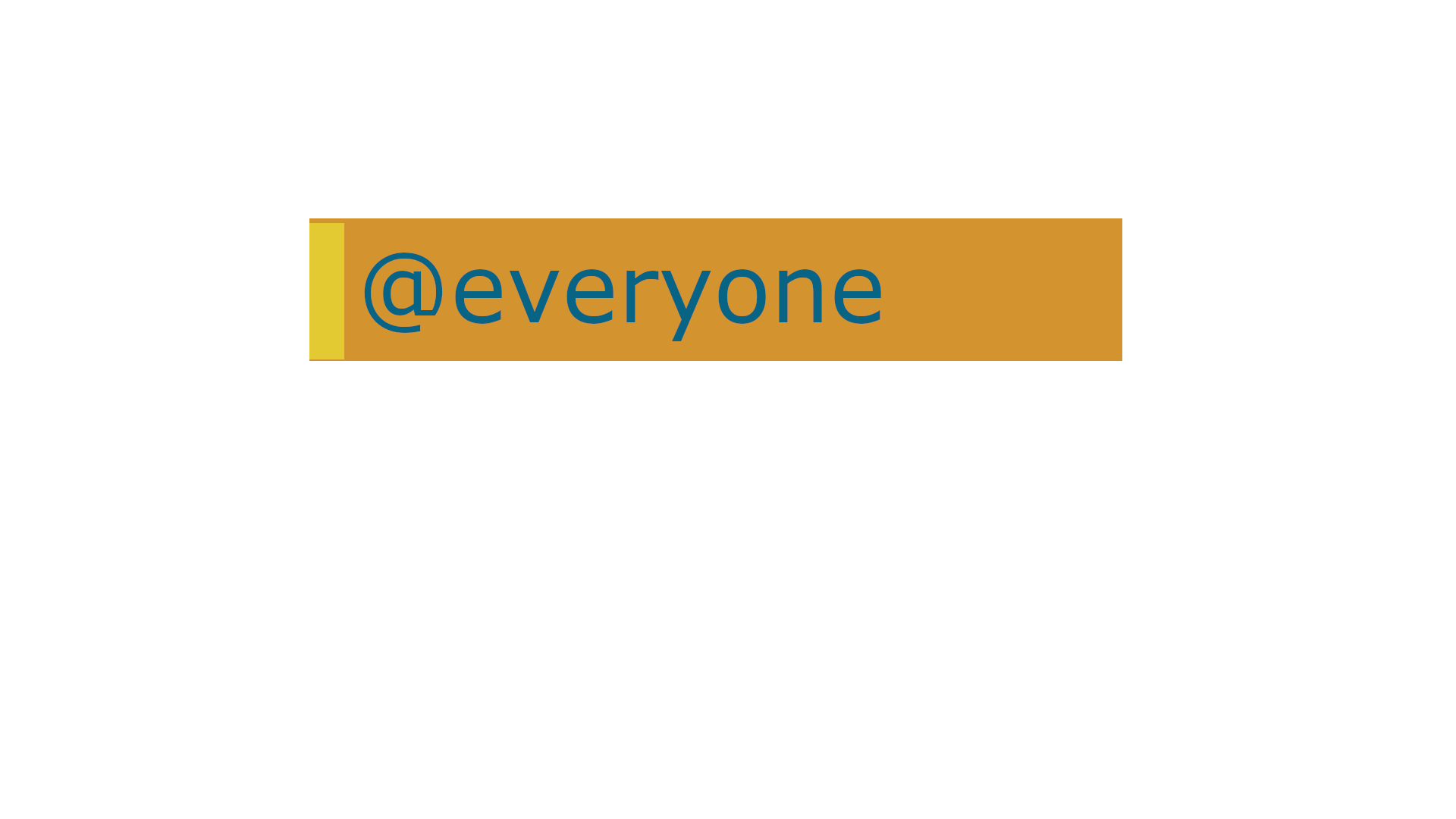 @everyone