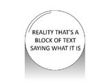 Realitythat'sablockoftextsayingwhatitis