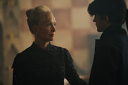 A Discovery of Witches S2 on Sundance Now Lindsay Duncan as Ysabeau de Clermont & Edward Bluemel as Marcus Whitmore 3016688