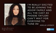 Adele Leonce quote to Sky One about Phoebe Taylor Casting