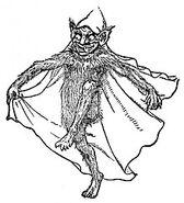 Goblin illustration from 19th century