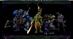 5 Hero Team Group Photo of Murky, Samuro, Stitches, Sylavans and Warfield's Blizzard Dota Models.jpg