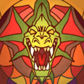 Stained Glass Dragon Knight Portrait.png