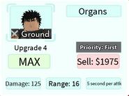 Organs Upgrade 4 Card