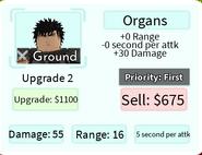 Organs Upgrade 2 Card