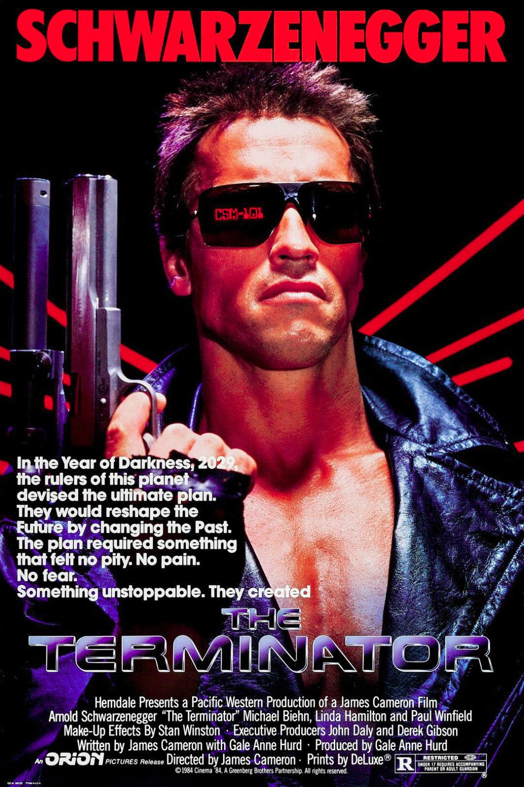 The Terminator 80/'s Movie Code Red Adult T Shirt