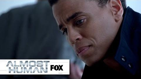 """Dorian's Important Discovery from """"Skin"""" ALMOST HUMAN FOX BROADCASTING"""