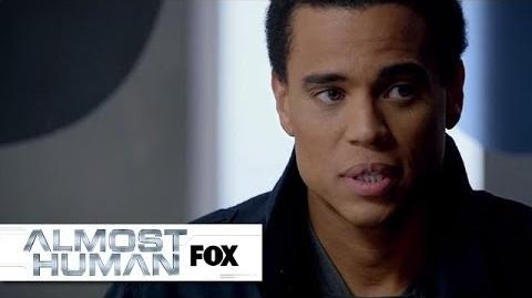 """Dorian Receives His Performance Evaluation from """"Straw Man"""" ALMOST HUMAN FOX BROADCASTING"""