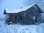 Demolished countryside house