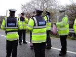 Irish police on lunchbreak