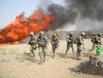 Burning hashish seized in Operation Albatross