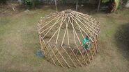 Opening the yurt