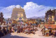 5912 Reconstrucción ideal de una ceremonia prehispánica