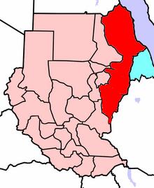 Location of Republic Of East Sudan