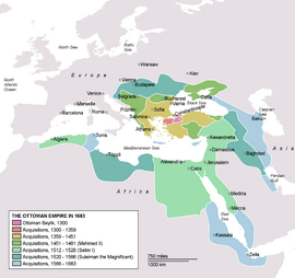 Ottoman territories acquired between 1300 and 1683