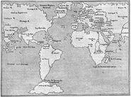 Weltkarte kurz nach Kolombus