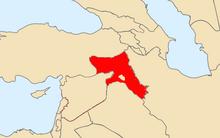 Location of Kurdistan