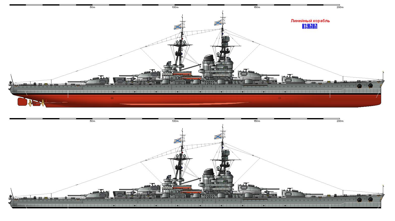 Линейные корабли типа «Измаил» (Мир другой России)