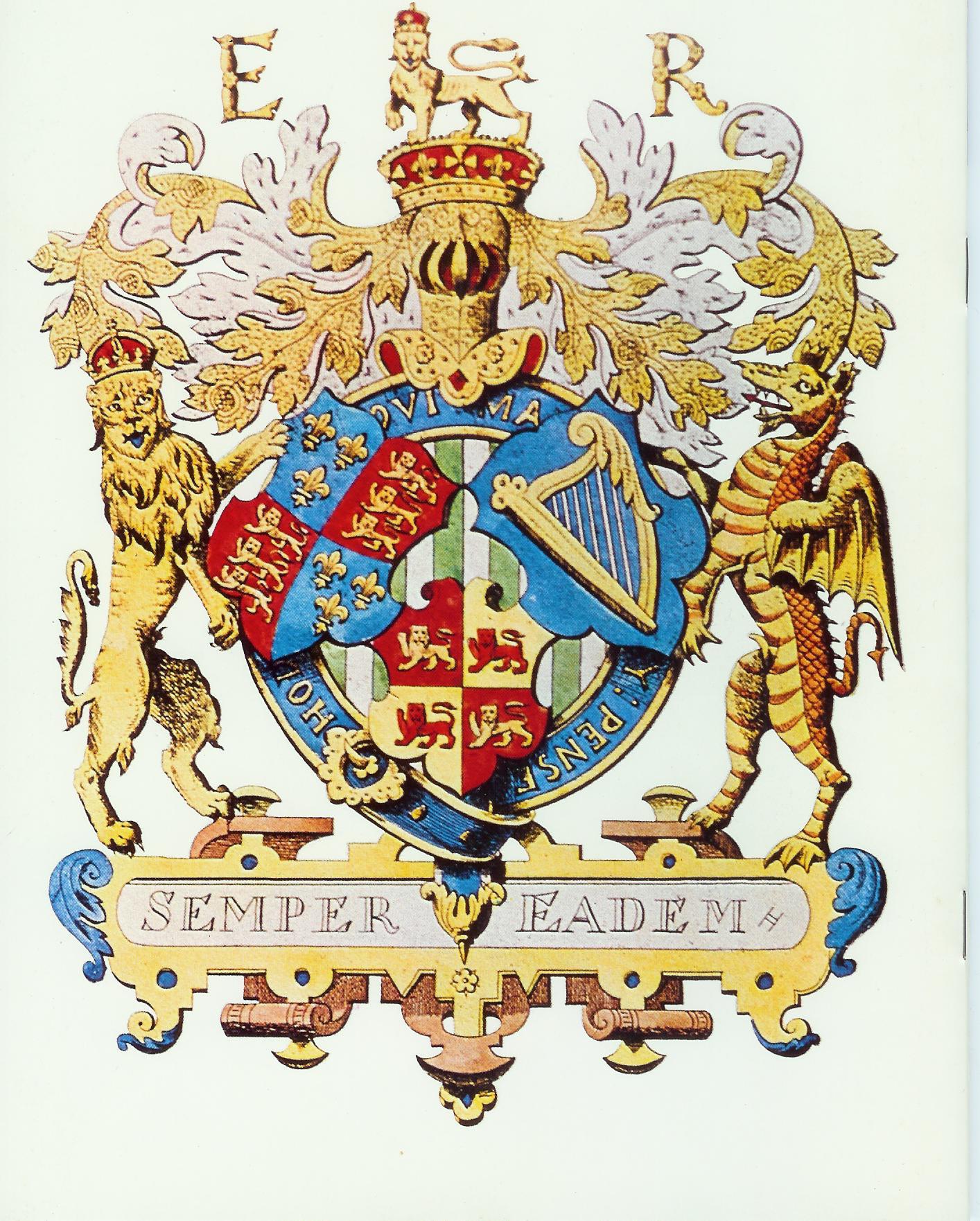 Elizabeth 1st Three Countries Coat of Arms.jpg