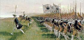 1024px-Hohenfriedeberg - Attack of Prussian Infantry - 1745.jpg