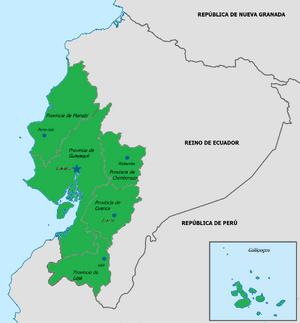 Mapa de la República unida de Guayaquil y Cuenca.png
