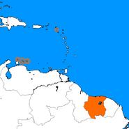 Mapa das Antilhas (Rubro Lampejo da Aurora)