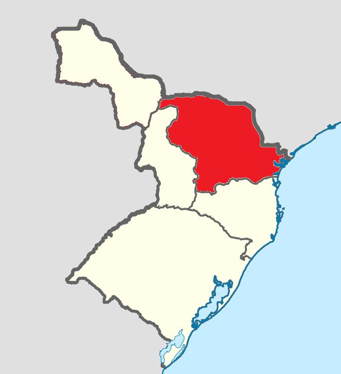 División administrativa de Nueva Prusia (Venezuela anglosajona)