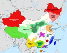 Location of PRC, People's Republic