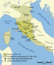 Etruscan civilization map-de