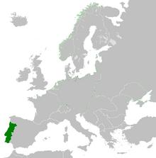 Localización de Portugal