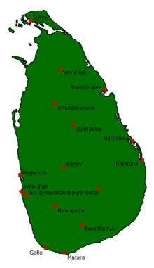 Location of Lanka