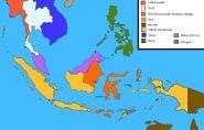 Mapa koloni azja w