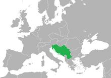 Localización de Yugoslavia