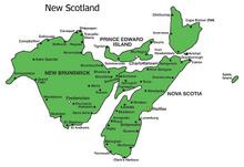 Location of New Scotland