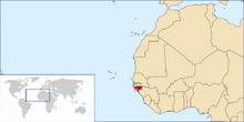 Location of Republic of Guinea-Bissau