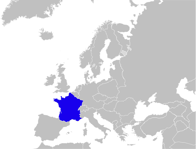 Blank Map of Europe France.png